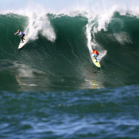 "Mavericks Invitational Surf Contest 2012-2013 as shot from :Water-Wizards"" = OceanFilmBoat"